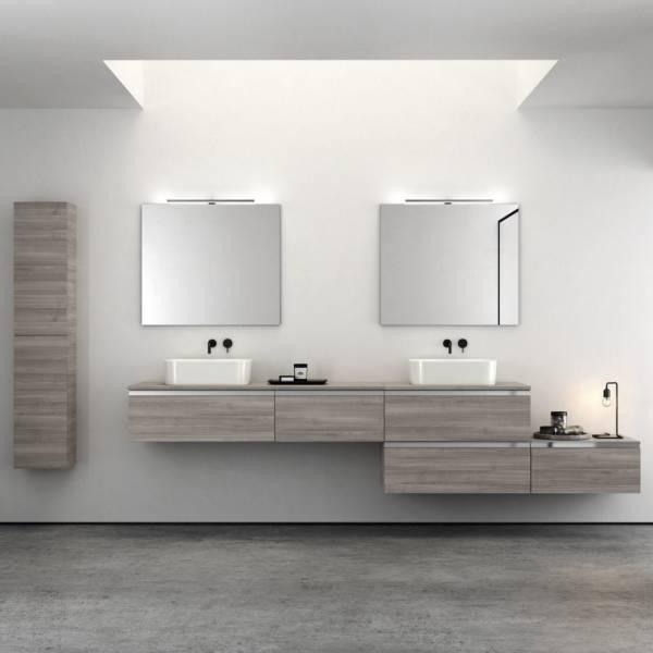 meuble vasque suspendu de salle de bain avec colonne assortie bandol var magasin de carrelage. Black Bedroom Furniture Sets. Home Design Ideas